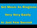 How to set music as ringtone in motorola phone and others.