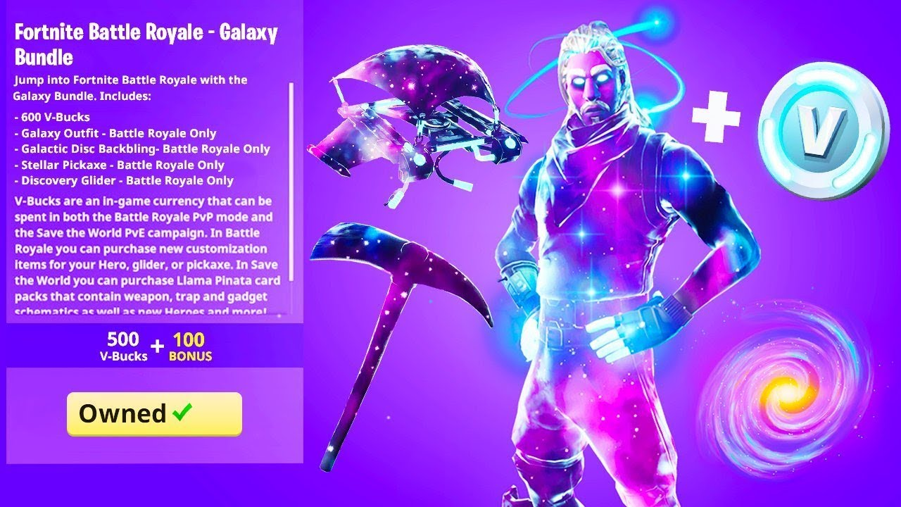 Finally new galaxy skin bundle in fortnite youtube - Fortnite galaxy skin free ...