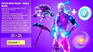 zum schluß.. Neue GALAXY SKIN BUNDLE in Fortnite!