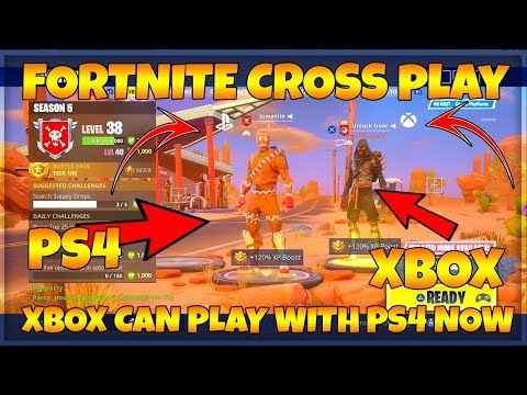 FORTNITE HOW TO PLAY PS4 WITH XBOX ONE CROSS PLATFORM! | PS4 CROSS PLAY WITH XBOX & MORE (FORTNITE)