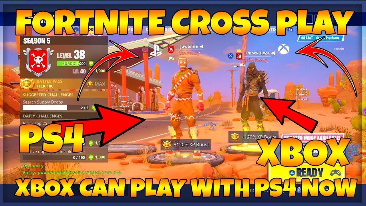 FORTNITE HOW TO PLAY PS4 WITH XBOX ONE CROSS PLATFORM ...