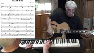 FINE ROMANCE - Jazz guitar & piano cover ( Jerome Kern ) Yvan Jacques