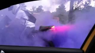 Cbr600rr burnout (colored smoke tire)