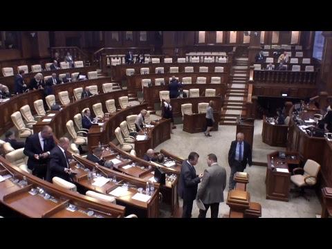 Şedinţa Parlamentului Republicii Moldova 12.10.2017