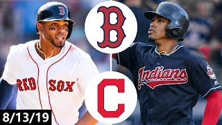 Boston Red Sox vs Cleveland Indians Highlights | August 13, 2019 (2019 MLB Season)