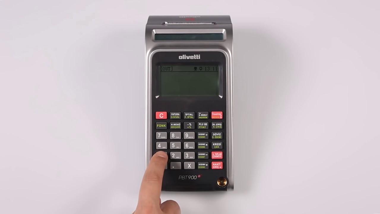 Olivetti PBT 900 - Kasiyer Girişi