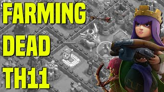 Clash of Clans | Farming Huge Loot On TH11 Dead Base In Crystal 3