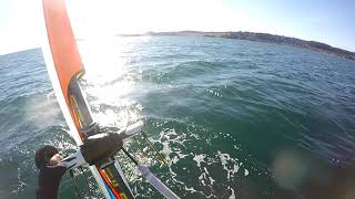 Chilly windsurf foiling