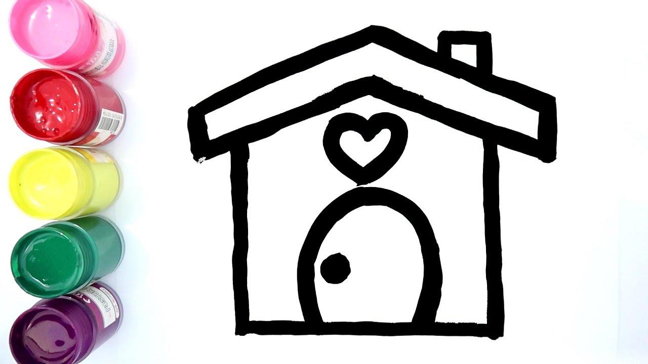 Cara Menggambar Dan Mewarnai Rumah Jamur