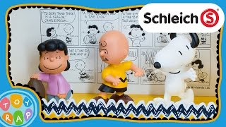 Peanuts Charlie Brown Classic Playset by Schleich: Snoopy ToyRap Toy Review
