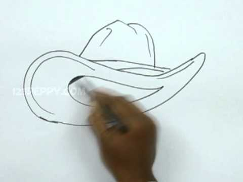How to Draw a Cowboy Hat - YouTube
