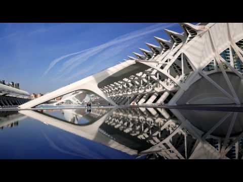 City of Arts and Sciences In Valencia in 4k