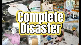 NEW! COMPLETE DISASTER | ULTIMATE CLEAN WITH ME | SUPER PRODUCTIVE SAHM CLEANING *MUSIC ONLY*