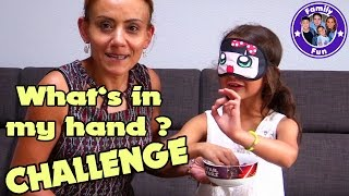 WHAT`S IN MY HAND CHALLENGE mit MILEY | FAMILY FUN