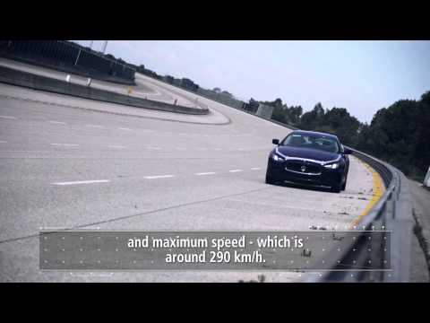 Maserati Ghibli. High speed performance test on the Nardò track