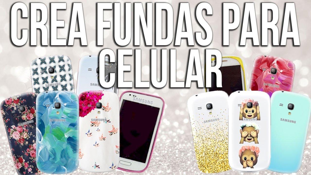 Haz fundas para celulares (6 ideas) - decora tu celular - Tutoriales Belen  - YouTube