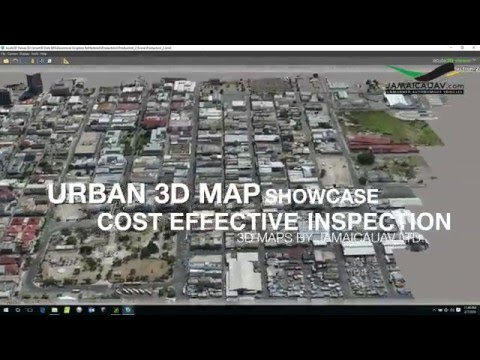 Urban Waterway Inspection from 3D MAPS generated by UAV Aerial Surveys