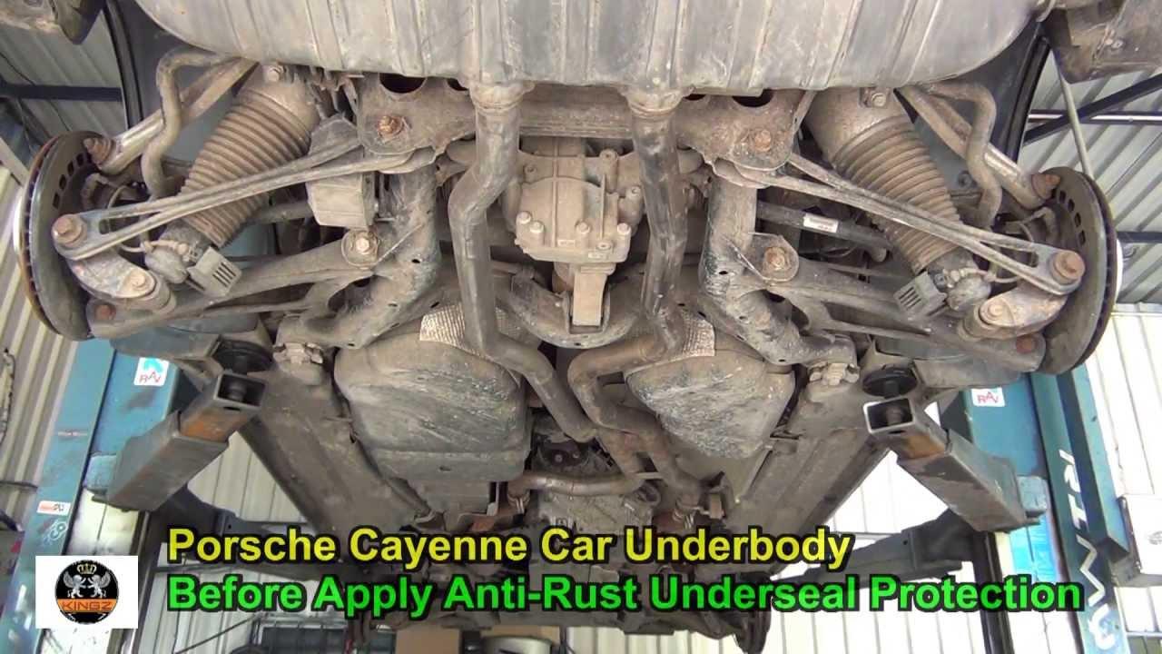 Anti Rust Underseal Car Underbody Porsche Cayenne Youtube