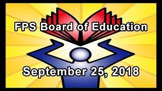 School Board Meeting - September 25, 2018