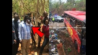 Transport minister weeps as he visits kintampo acc!dent site