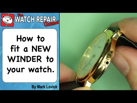 How to fit a new watch winder. Crown and stem replacement. Broken winder. Watch repair series.
