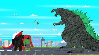 Super Hero: Hulk vs Spider Man vs Godzilla Earth [HD] | Roblox Godzilla Animation