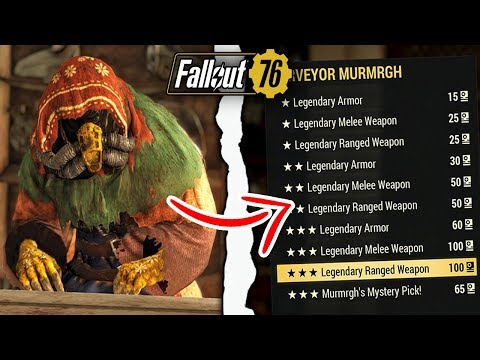 Fallout 76 Legendary Vendor Arriving Early With Amazing Gear
