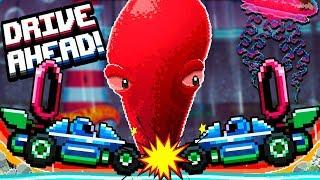Битва НОВЫХ ТАЧЕК Хот Вилс Против ГИГАНТСКОГО ОСЬМИНОГА! Безумная игра Drive Ahead от Cool GAMES