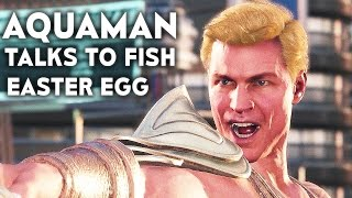 INJUSTICE 2 Aquaman Talks To Fish Easter Egg Justice League 2017 Movie Reference