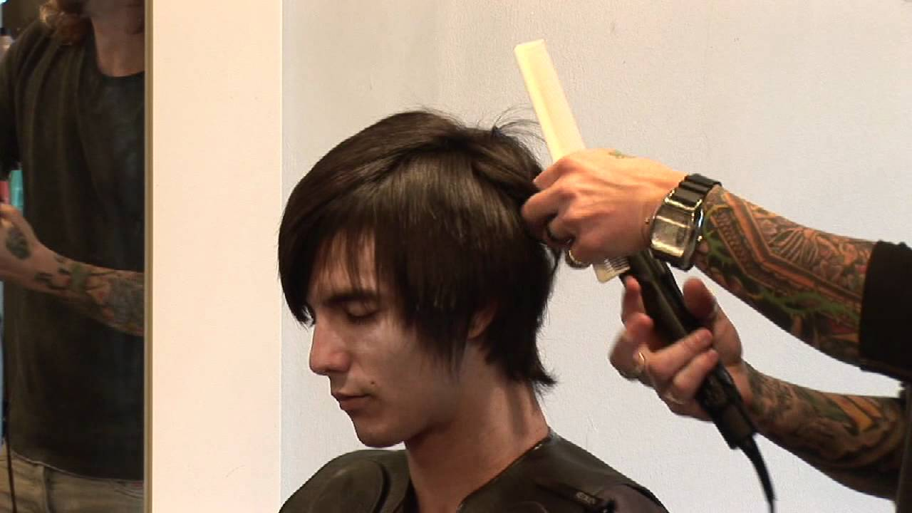 Hair Care For Men How To Flat Iron Men S Hair Youtube
