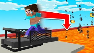 Minecraft But STOP RUNNING = Instant DEATH! (so tough)