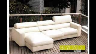 White Leather Chaise Lounge Available At Beyond Furniture