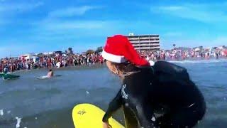 A decade of surfing santas