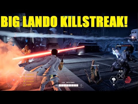 Star Wars Battlefront 2 - Lando here for your droids! | BIG Lando Calrissian killstreak! thumbnail