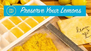 Freeze Your Lemons/Citrus to Preserve them for Months!