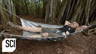 Adam Savage Builds a Duct Tape Shelter | MythBusters