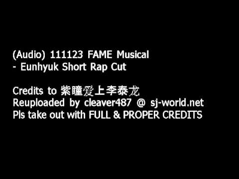 (Audio) 111123 'FAME' Musical - Eunhyuk Short Rap Cut
