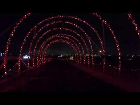 Driving Tours 4K, Santa's Rock n Lights on Werner Park, Omaha, Nebraska, USA