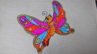 Как Нарисовать Бабочку # 36/ How to draw a butterfly(В этом видео я покажу как легко нарисовать бабочку! Смотрите и повторяйте за мной! Все Видео Канала Рисуем..., 2016-10-05T08:44:01.000Z)
