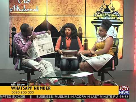 Newspaper headlines Review - AM Show on Joy News (12-9-16)