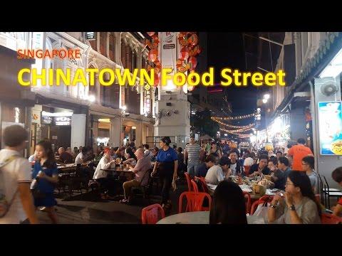 INTERESTING Food Street in Chinatown Singapore