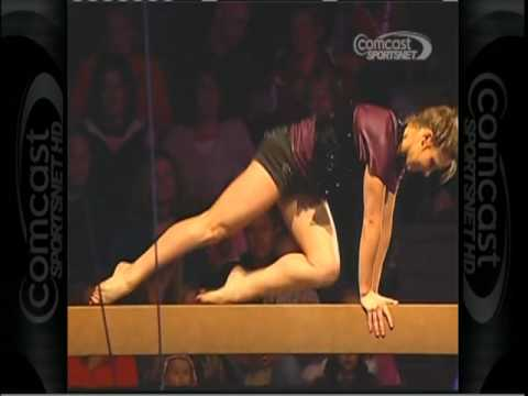 COURTNEY KUPETS - BEAM - EXHIBITION 2010 - (GREATEST COLLEGIATE GYMNAST OF ALL TIME) - VOB