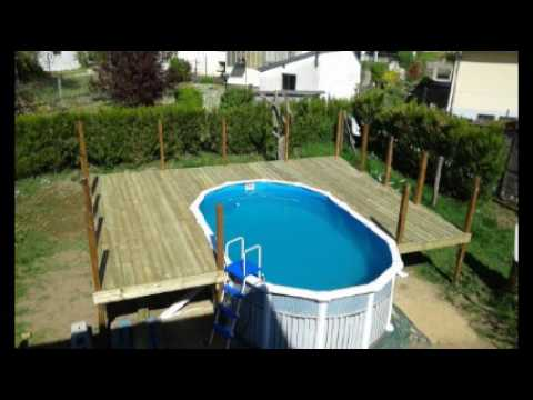 Terrasse piscine bilou58 youtube for Piscine hors sol et terrasse bois