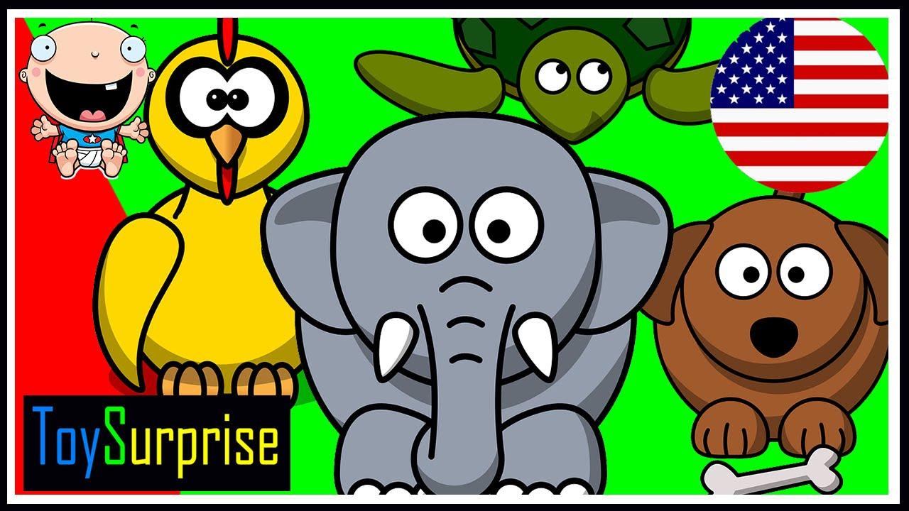 Animales en ingl s fotos nombres caricturas y sonidos de animales en ingl s youtube - Habitacion en ingles como se escribe ...