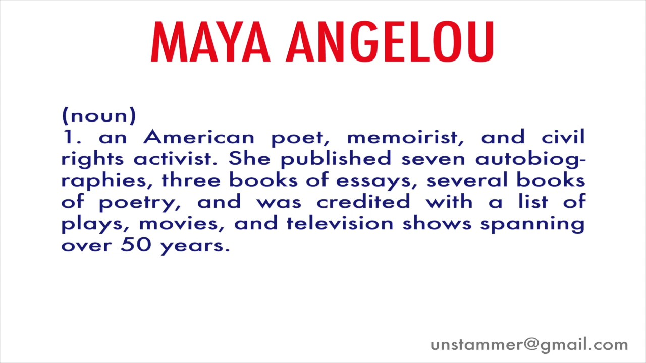 how to pronounce a angelou how to pronounce a angelou