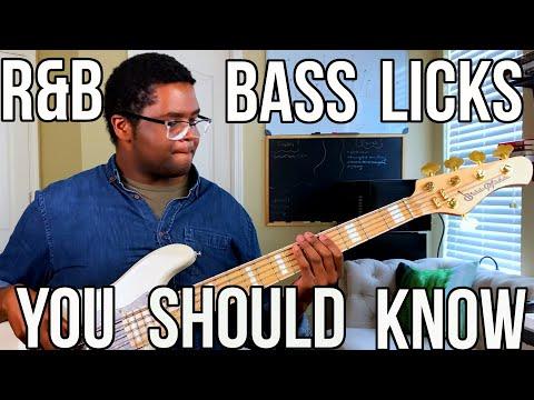 R&B Bass Licks YOU SHOUD KNOW
