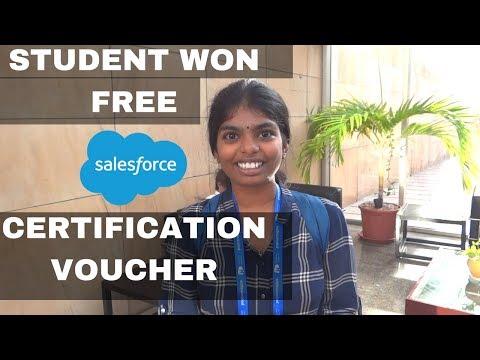 College Student Won Free Salesforce Certification Voucher In Hyderabad Trailblazin