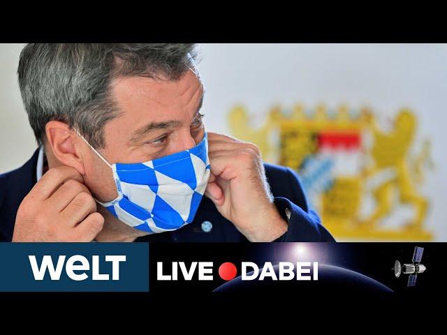 LIVE DABEI: Briefing von Markus Söder nach dem Bund-Länder-Gipfel zur Corona-Lage in Bayern