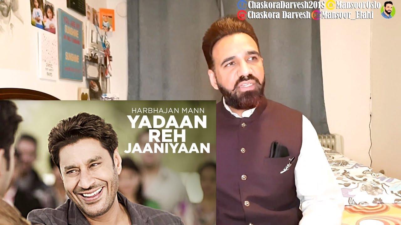 harbhajan mann new song yadaan reh jaaniyaan