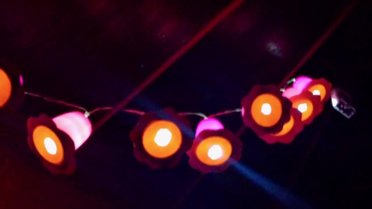 Fruchtzwerg Lichterkette Blume - selber basteln fürs Kinderzimmer ...